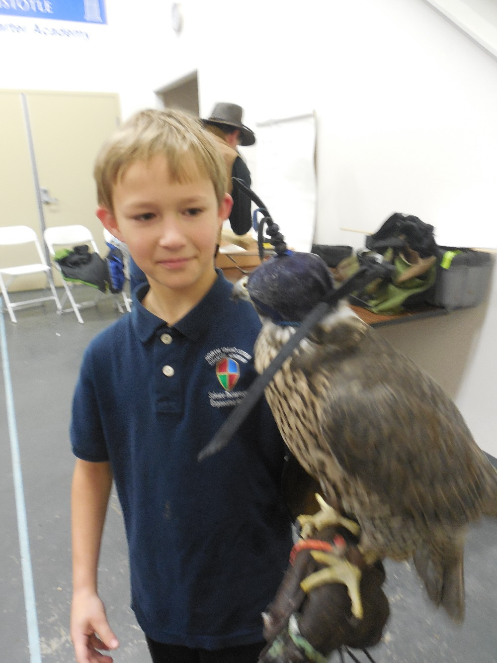 Declan with falcon.JPG